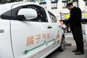 Sales of electric cars in China have doubled
